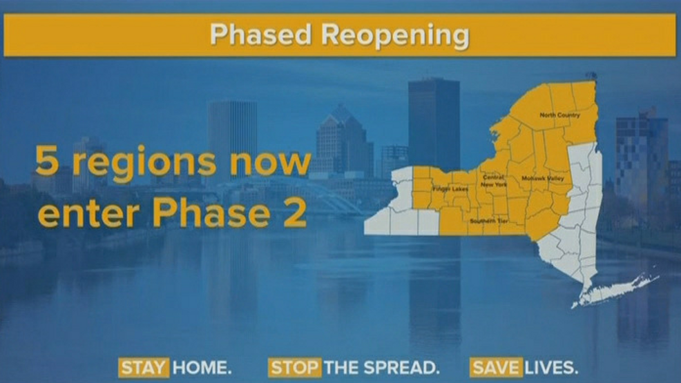 5 regions of new york that are now in phase 2