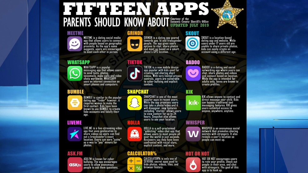 Authorities warn of 15 dangerous apps that could be on your child's