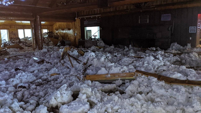 Avalanche in New York damaged the lodge at Belleayre Mountain Ski Center